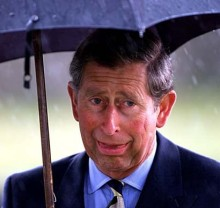 PRINCE CHARLES REACTS TO BAD WEATHER IN SCOTLAND