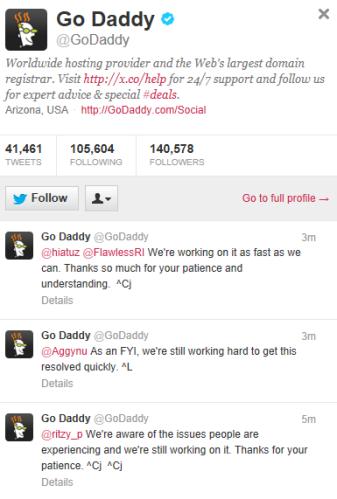 GoDaddy Twitter Pic