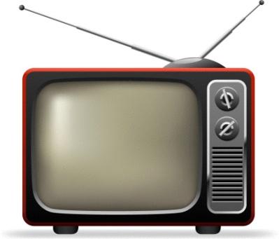 80s tv set graphic