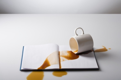 Coffee spilled