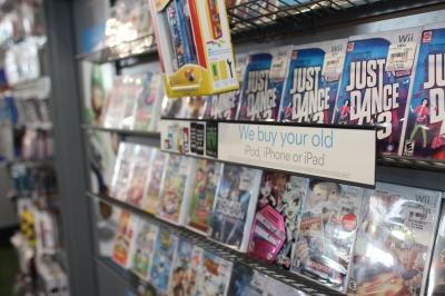 GameStop shelves