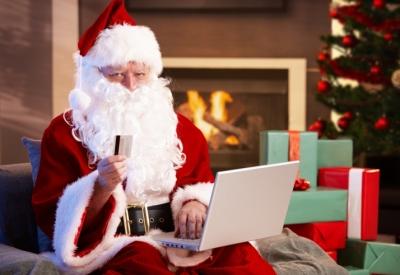 Santa Holiday Shopping