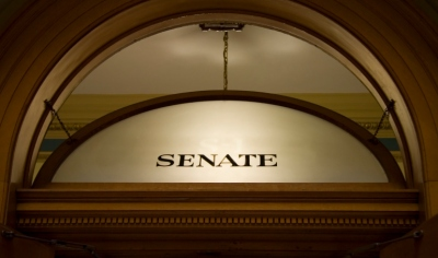 Window above senate chambers
