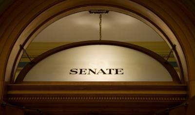 Window above senate chambers