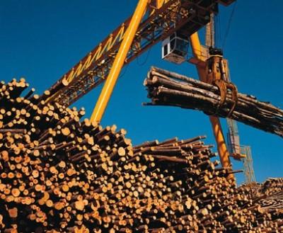 hauling logs