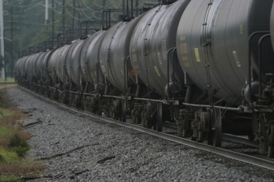 Railroad Oil Tank Cars