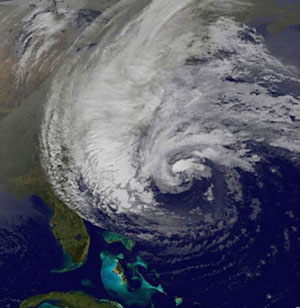 TS Sandy Image from NOAA