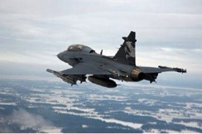 Routed by Swiss voters this week, Saab's Gripen goes into reverse. Photo: Saab.