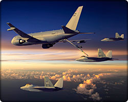Boeing KC-46A with chicks