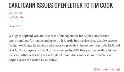 Icahn Apple letter May 18 2015