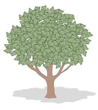 Money Tree, Linda Braucht, 20th Century, American, Computer Graphics