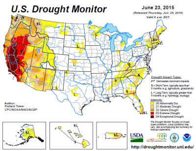 Drought map June 24 2015