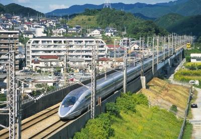 Shinkansen Running in Fukuoka