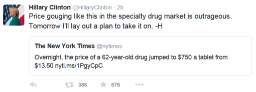 Hillary Tweet Bio Sept 21