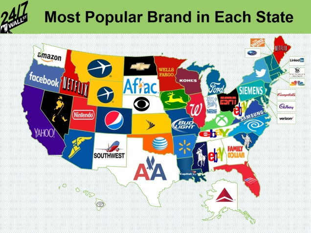 24-7 most popular brand in each state