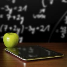tablet and apple