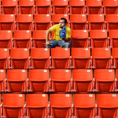 Sports Fan in Stadium
