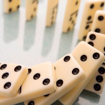 dominoes collapsing