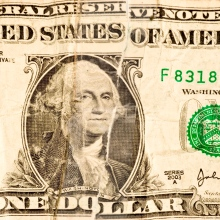 Battered Dollar Bill
