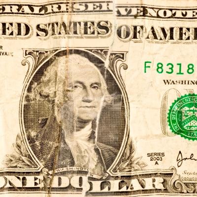 Battered Dollar Bill