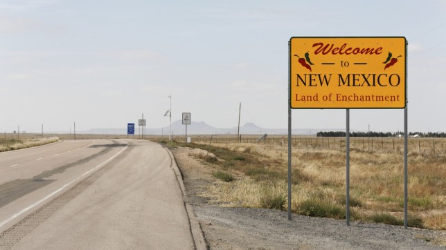 New Mexico (welcome sign)