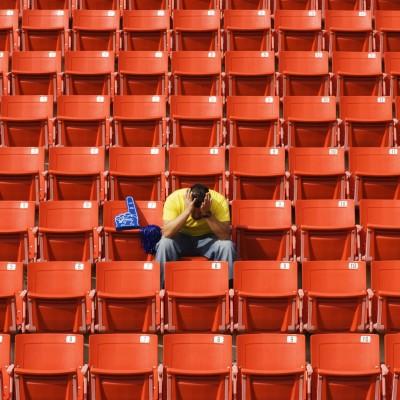 Losing sports fan
