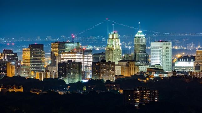 Newark at night, New Jersey