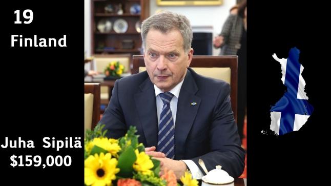 Sauli Miinisto, President of Finland (salary)