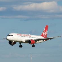 Virgin America Airlines jet