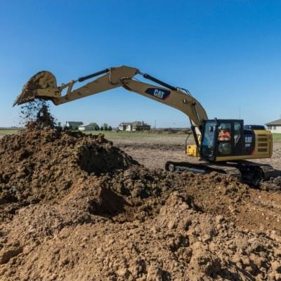 Caterpillar excavator