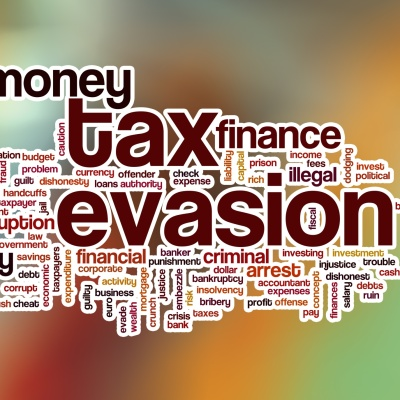 Tax Evasion graphic