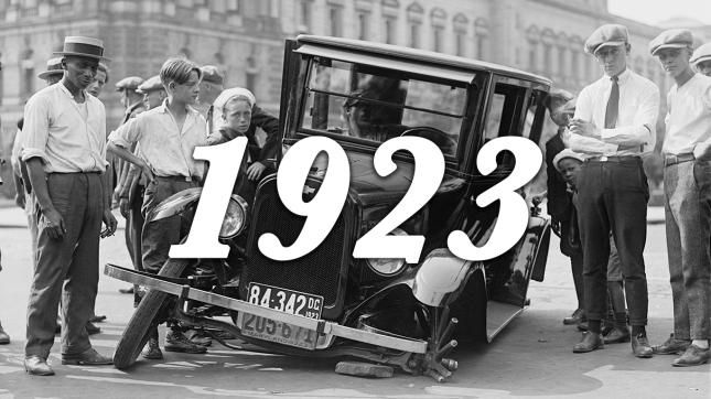 1923 auto wreck