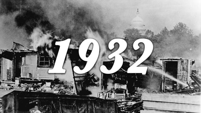 1932 Shacks burning in the capital