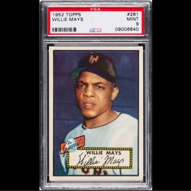 1952 Topps Willie Mays Crushes Auction Record Next Honus Wagner