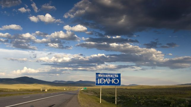 Idaho welcome sign