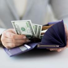 Money wallet, income copy