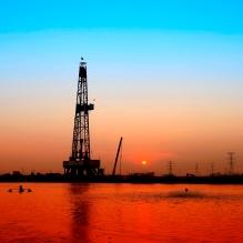 oil field sunset