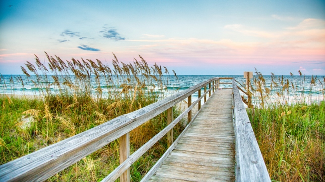 Board Walk on the Beach, North Carolina