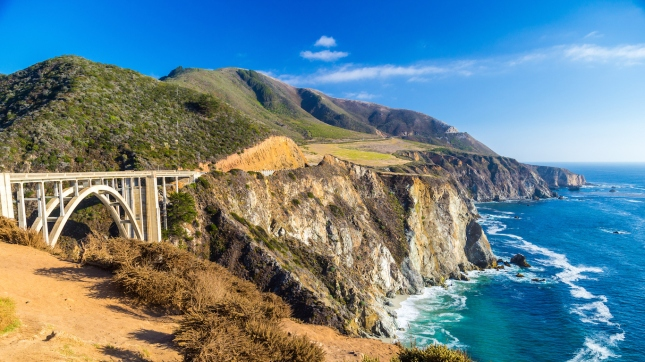 Landmark Bixby Creek Bridge in Big Sur, California