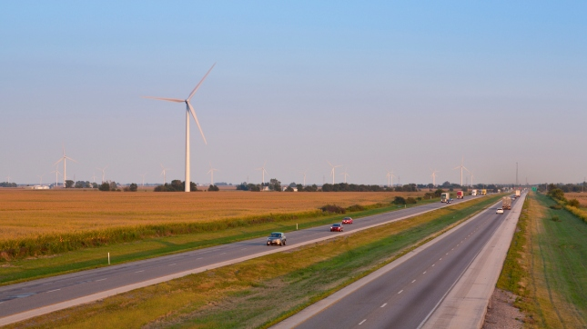 Wind Farm, Highway, Indiana