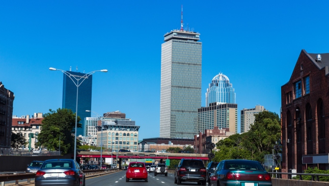 Boston downtown street traffic Massachusetts