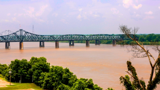 The great Mississippi river at Vicksburg MS
