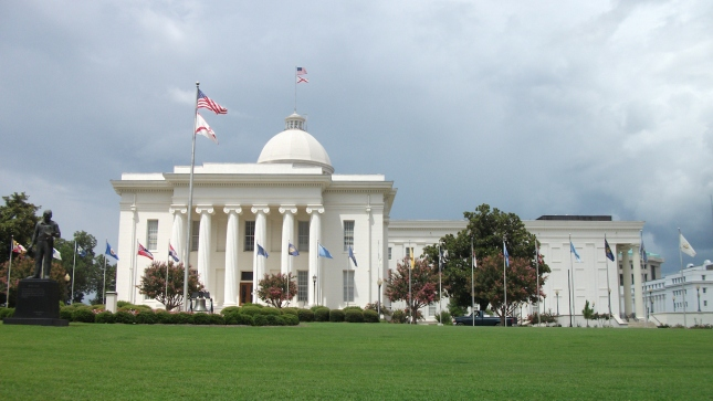 Montgomery, Alabama State Capital under a blustery sky 1.