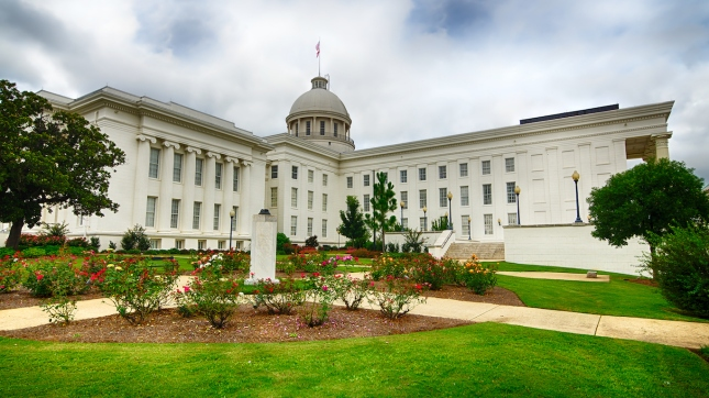 View of state capitol in Montgomery, Alabama