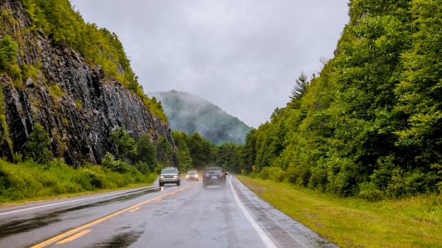 Driving in the rain north carolina