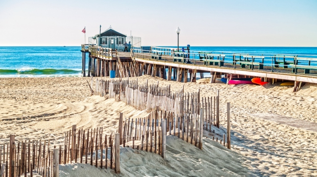 Fishing Pier Ocean Grove, New Jersey, beach