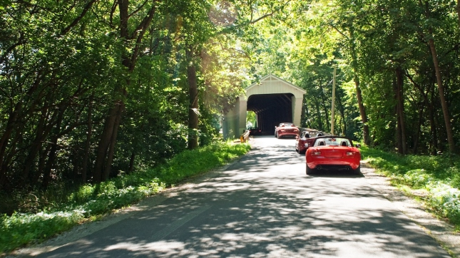 Country Drive through Covered Bridge, Ohio