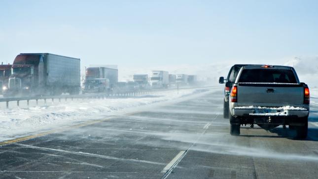 Wyoming Winter Traffic Jam