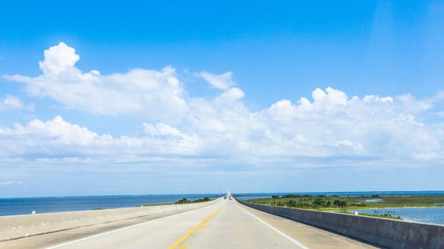 Crossing the Dauphin Island Bridge Alabama