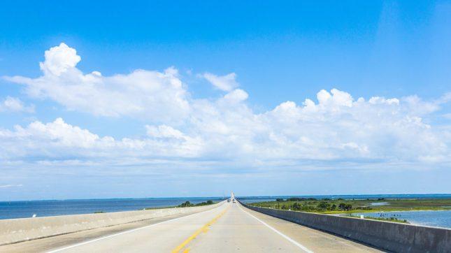 Crossing the Dauphin Island Bridge Alabama